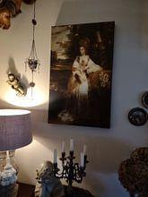 Kundenfoto: Porträt von Lady Bampfylde, Joshua Reynolds, auf leinwand