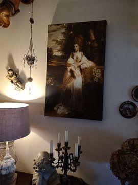 Kundenfoto: Porträt von Lady Bampfylde, Joshua Reynolds