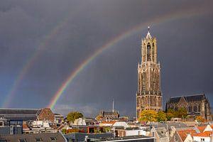 Utrecht - Dubbele Regenboog Dom Toren van
