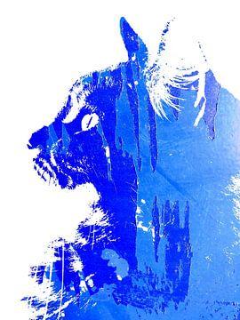 Kattenkunst - Diva 4 van MoArt (Maurice Heuts)