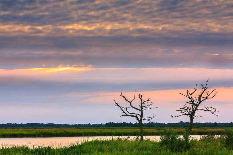 Zonsondergang in de Onlanden van Henk Meijer Photography