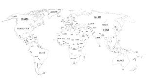 Grenzeloze Wereldkaart