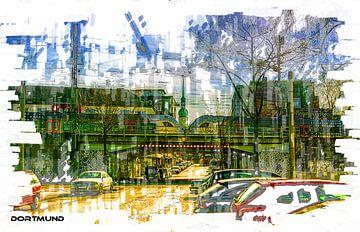 Dortmund op station 2 Pop Art van Johnny Flash