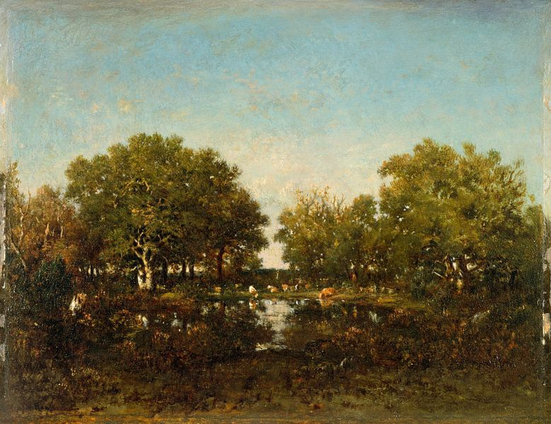 The Pool (Memory of the Forest of Chambord), Théodore Rousseau sur Meesterlijcke Meesters