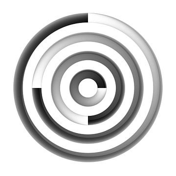 Centered Circles Panel van Jörg Hausmann