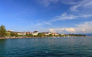 Uitzicht over de Zürichsee in de zomer von Dennis van de Water
