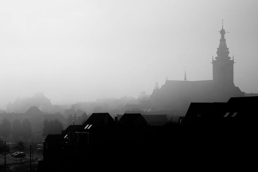 Nijmegen in de mist