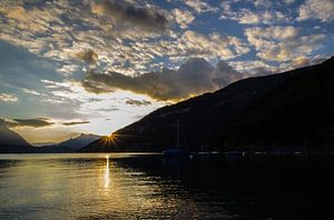 Zwitserland avond zon van