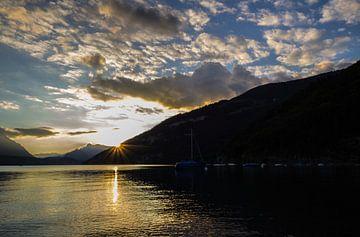 Zwitserland avond zon van Jeroen Kooij