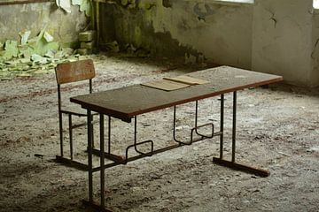 Schoolbankje van Dennis Brok