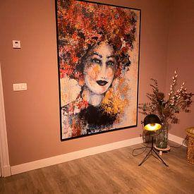 Kundenfoto: Blumenmädchen von Caroline Jacobs, auf leinwand