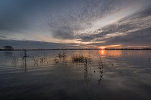 Zonsondergang bij Eiland van Maurik van Moetwil en van Dijk - Fotografie
