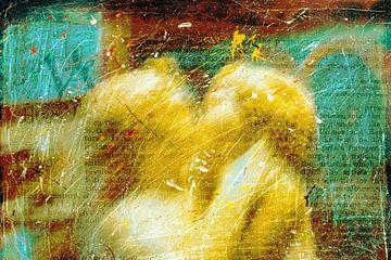 Street Art Kissing Angels van Rudy en Gisela Schlechter