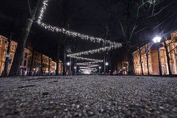 Lange Voorhout bei Nacht, Den Haag von Wouter Kouwenberg