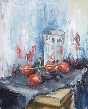 Tomaten olieverf van Tat.kunst