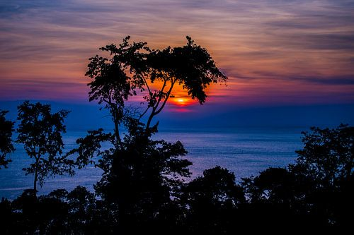 Zonsondergang in de tropen, tropical sunset