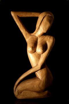 African Carved Nude Female van Brian Raggatt