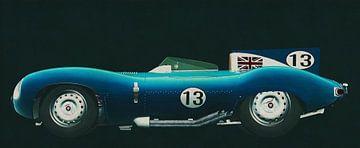 Jaguar Type D 1956 zijaanzicht van Jan Keteleer