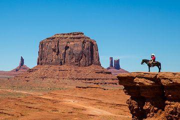 Cowboy im Monument Valley von Gerard Van Delft