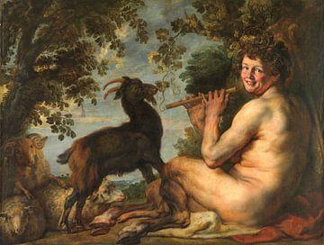 Ein Satyr, Jacob Jordaens (I), 1630 - 1635