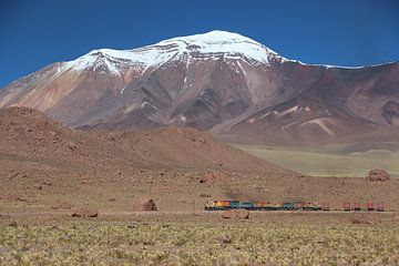 Zug, Salar de Ascotán, Vulkan, Chile von A. Hendriks
