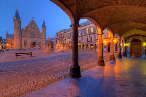 Binnenhof Den Haag na Zonsondergang van