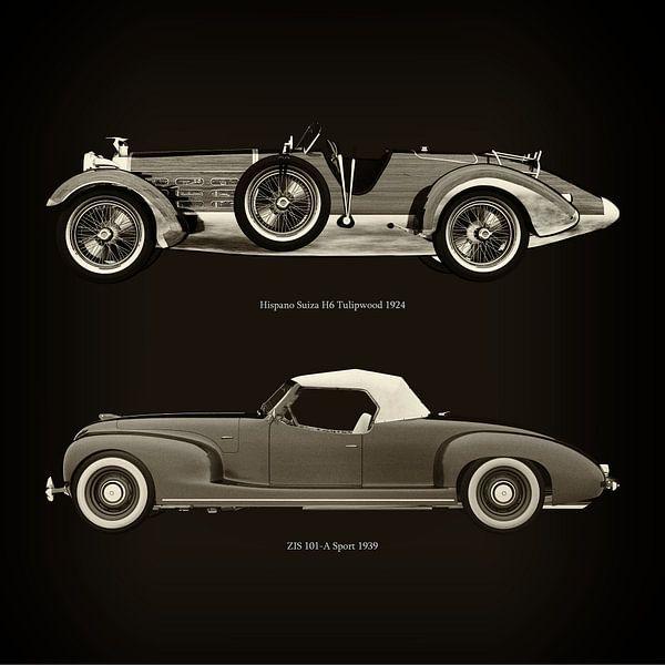 Hispano Suiza H6 Tulipwood 1924 et ZIS 101-A Sport 1939 sur Jan Keteleer