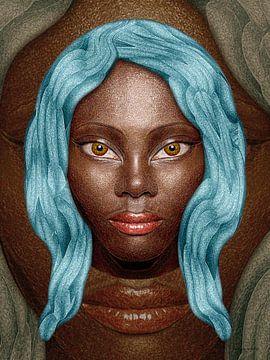Blauw Haar van Ton van Hummel (Alias HUVANTO)
