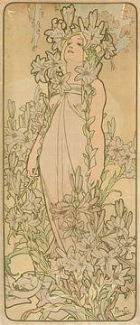 La Femme Animee en Fleur (Lys), Alphonse Mucha