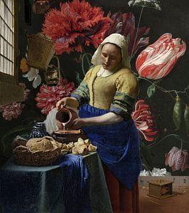 Het Melkmeisje met de vaas, Vermeer en de Heem