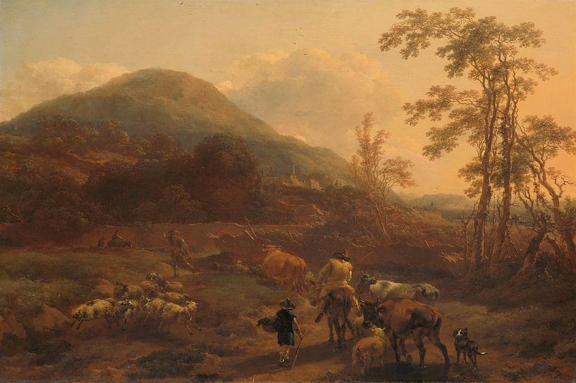 The Three Droves, Nicolaes Berchem von Meesterlijcke Meesters