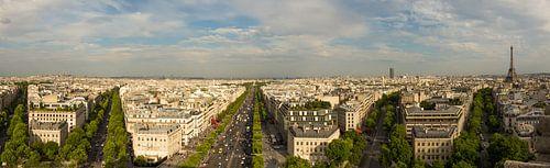 Panorama shot of Paris von Melvin Erné