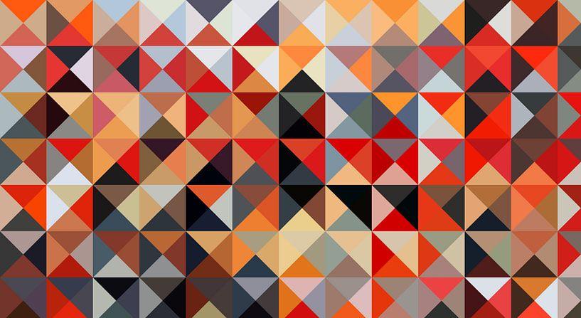 Driehoek met rode van Marion Tenbergen