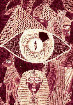 Eye opener (Oranje) van Artbyrewyomar
