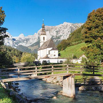 Parochiekerk St.Sebastian, Ramsau, Opper-Beieren, Duitsland van Markus Lange
