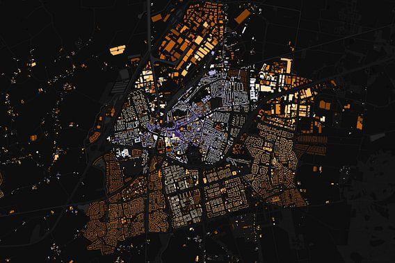 Kaart van Roosendaal abstract van Stef Verdonk