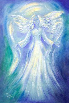 Amour et de Lumière - peinture d'ange sur Marita Zacharias