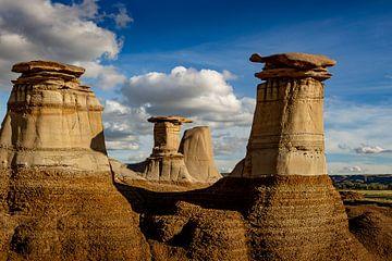 Hoodoos in Alberta, Canada van Adelheid Smitt