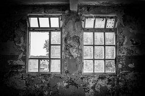 Fenster im alten Fabrikgebäude