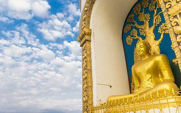 Boeddha beeld in Pokhara, Nepal van Marc Venema