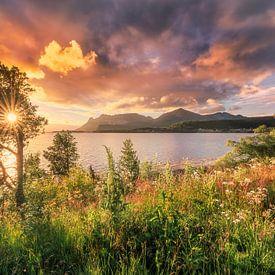 Sonnenuntergang norwegische Küste von FineArt Prints | Zwerger-Schoner |