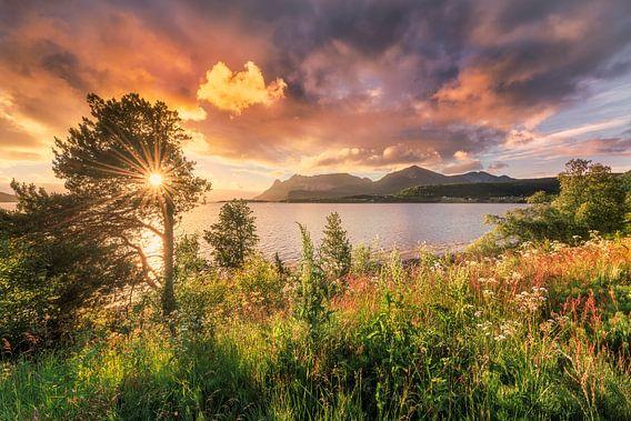 Sonnenuntergang norwegische Küste