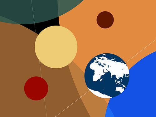 Portret van de planeten - grafisch van