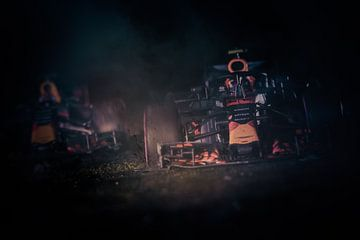Max Verstappen VS  - Red Bull Racing Miniatuur von Kevin Baarda