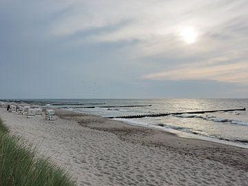 Abends am Strand von Ahrenshoop von Katrin May