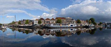 Panorama van het Binnen Spaarne in Haarlem, Noord Holland. sur Martin Stevens