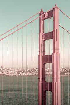 SAN FRANCISCO Golden Gate Bridge | urbaner Vintage-Stil von Melanie Viola