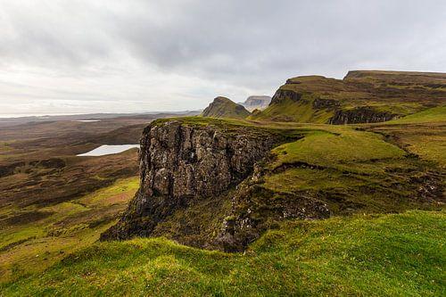 Vue imprenable en Ecosse de Quiraing sur l'île de Skye