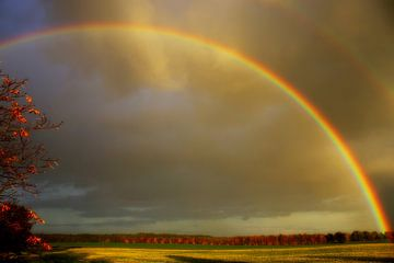 Herbstlicher Regenbogen