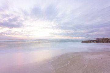 Pastellfarbener Sonnenuntergang von